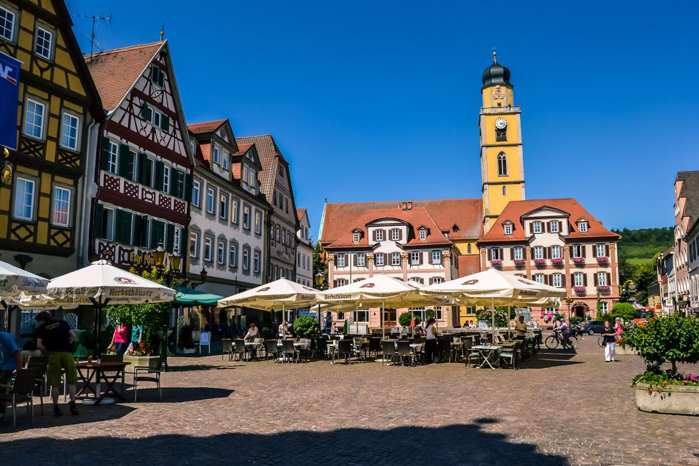 Baviera Bad Merghenteim piazza - in Viaggio con Monica