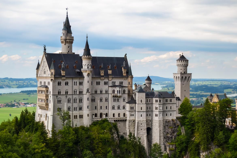 Castello di Neuschwanstein visto da Marienbrücke - in Viaggio con Monica
