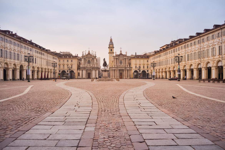 Torino Piazza San Carlo Panoramica - In Viaggio con Monica