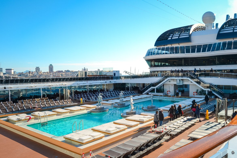 MSC Meraviglia piscina panoramica - In Viaggio Con Monica