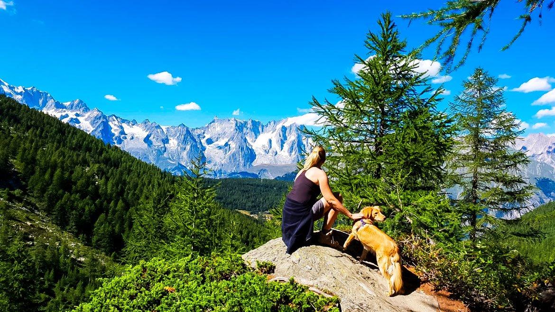 Valle d'Aosta Lago Arpy vista Monte Bianco - Monica Bruni - In Viaggio Con Monica