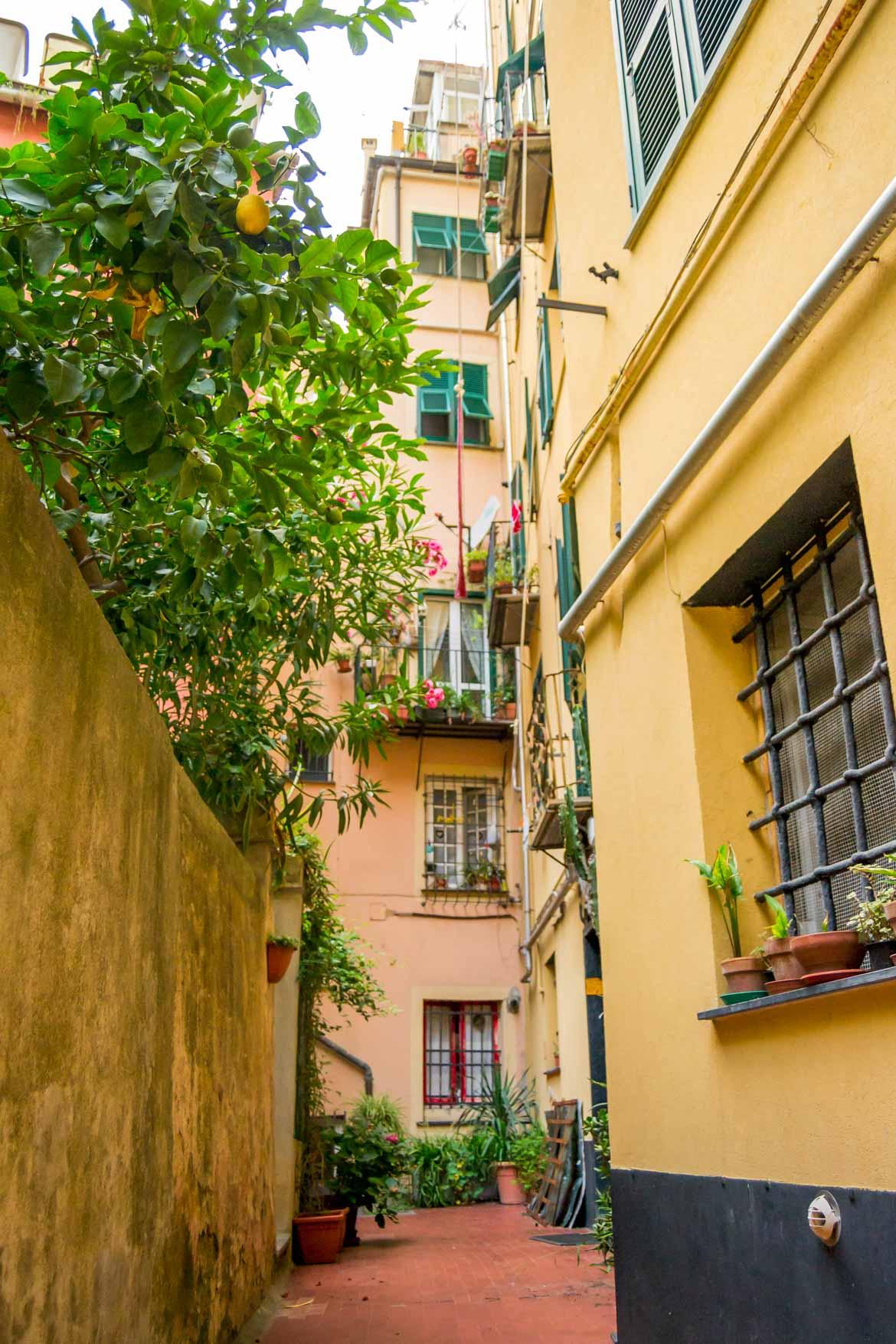 Genova Carmine Piazza Giuggiola cortile - In Viaggio Con Monica