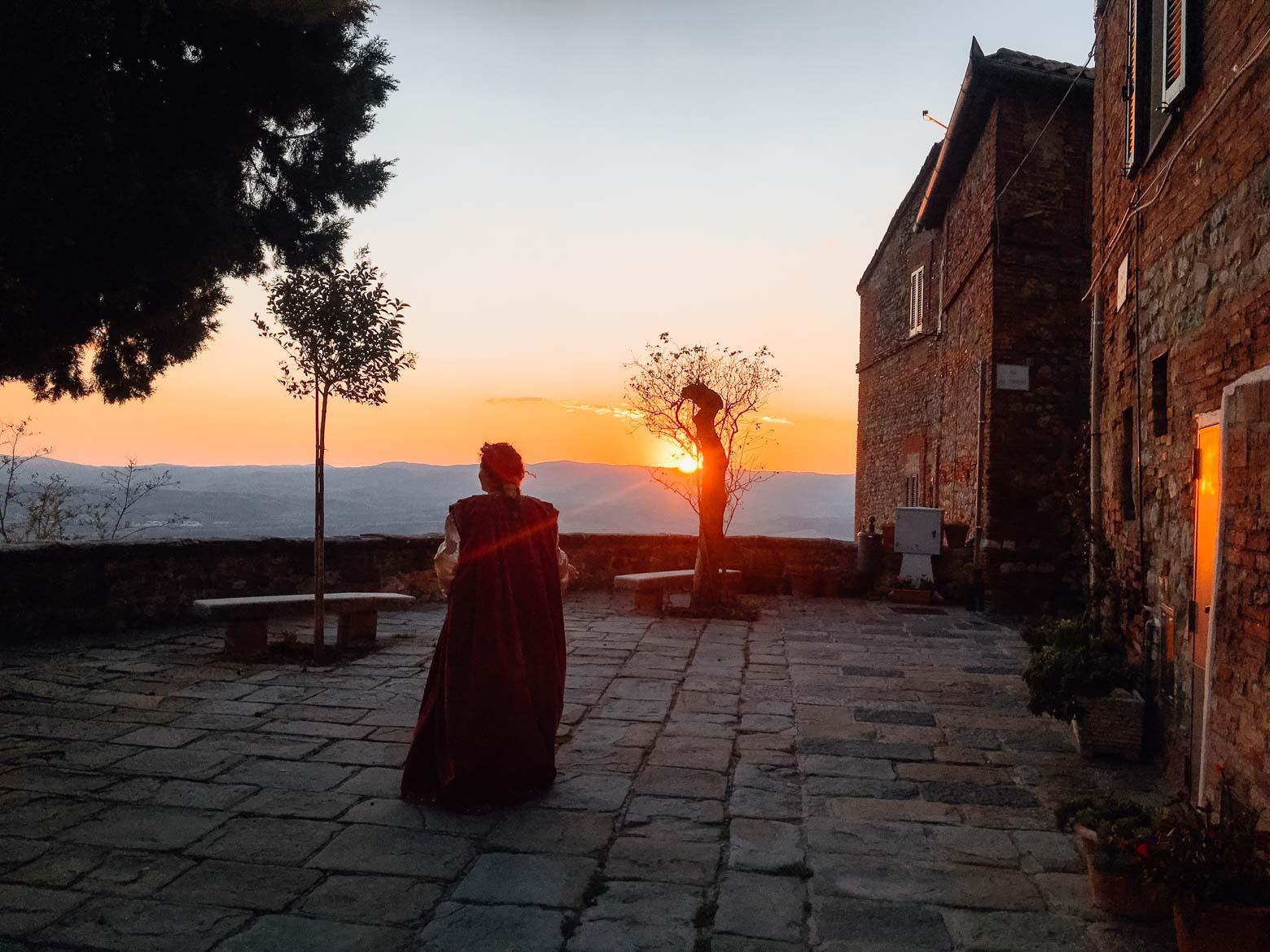 Monteleone d'Orvieto tramonto terrazza - In viaggio con Monica