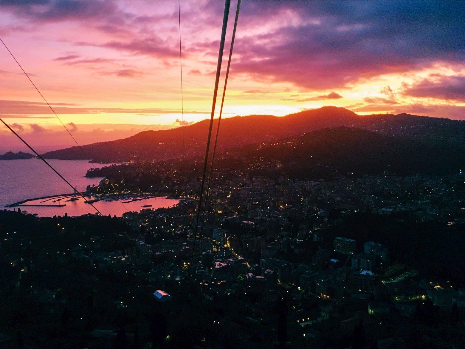 Rapallo tramonto - In viaggio con Monica