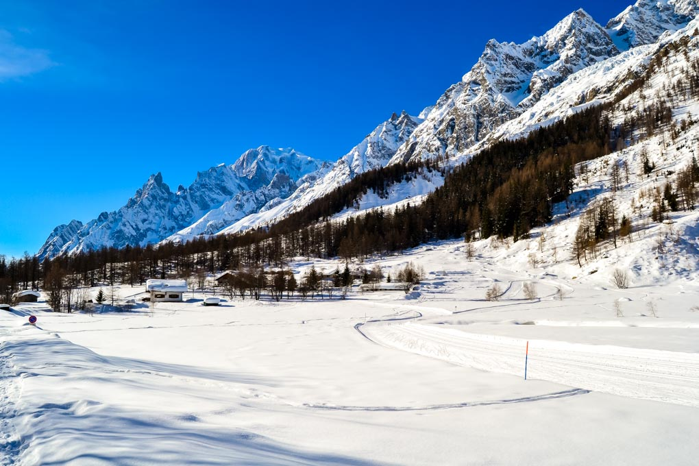 Cosa fare in val Ferret in inverno - sci fondo