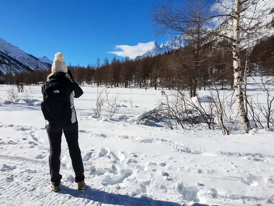 Cosa fare in Val Ferret in inverno - ciaspolata