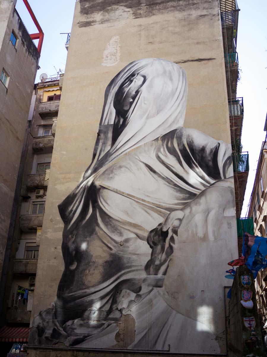 murales Pudicizia Napoli