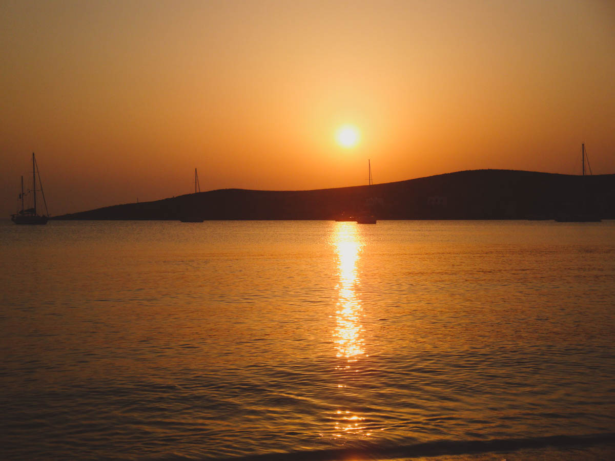 Tramonto a Paros Grecia
