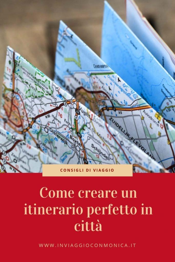 Come creare un itinerario - pinterest