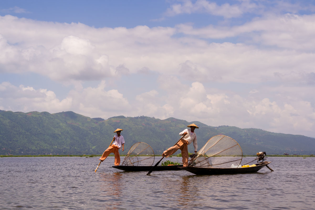 Viaggio in Myanmar - Pescatori lago Inle