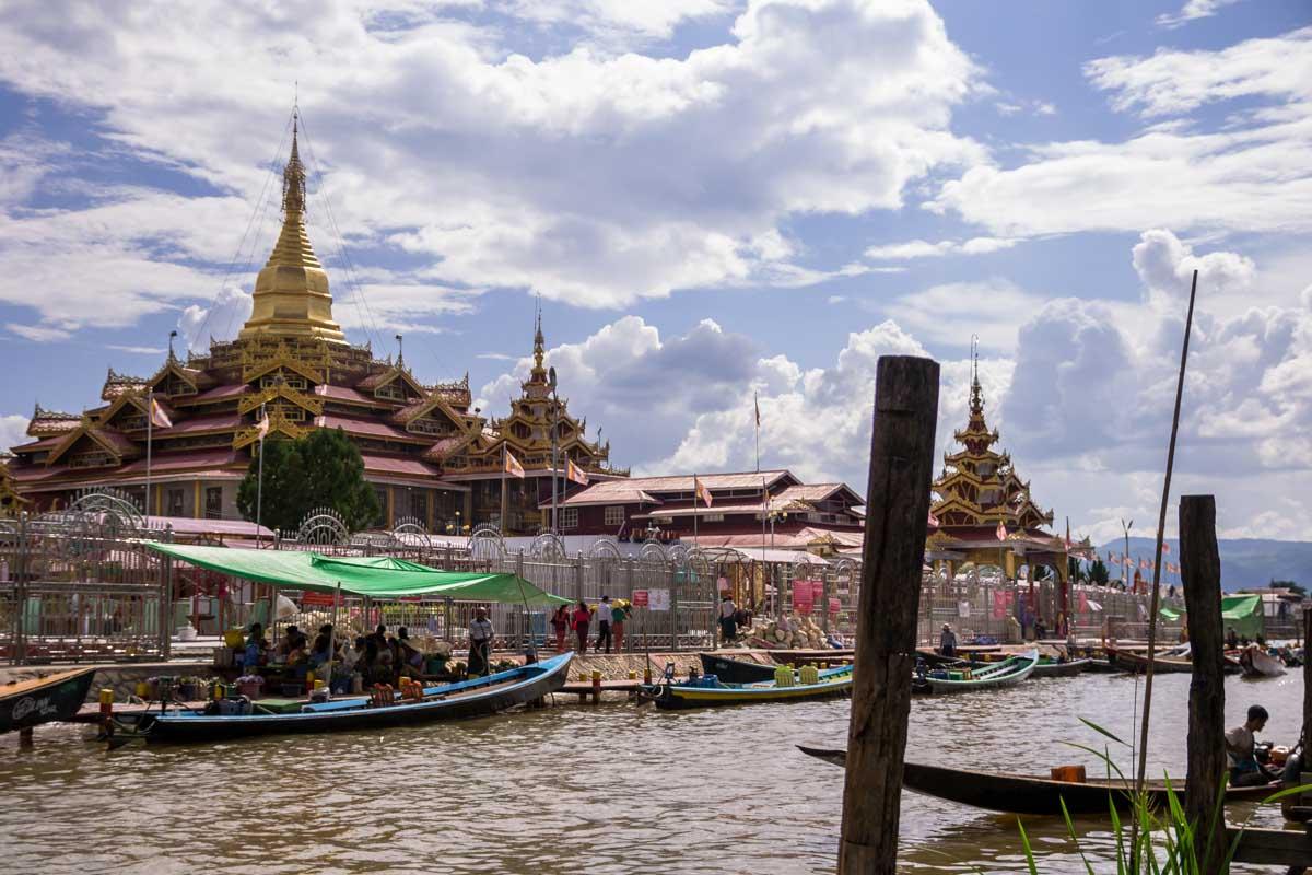 Pagoda Lago Inle birmania
