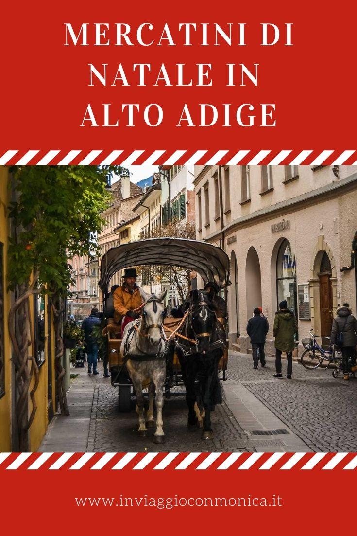 Carrozza e cavalli tra i mercatini di Natale a Bolzano