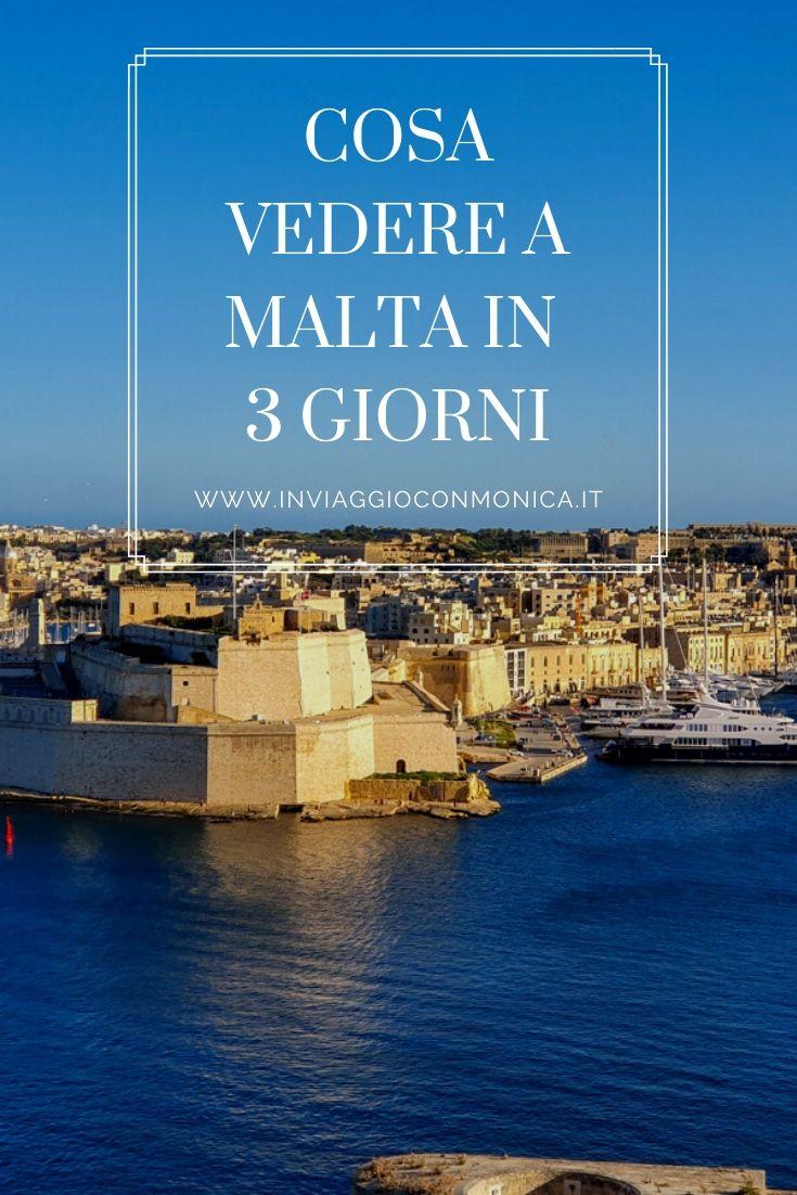 Pin cosa vedere a Malta in 3 giorni