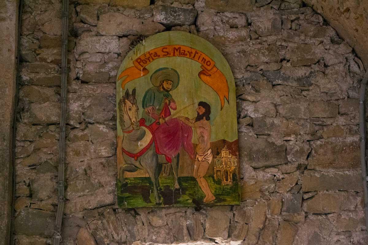 Targa ingresso Porta San Martino