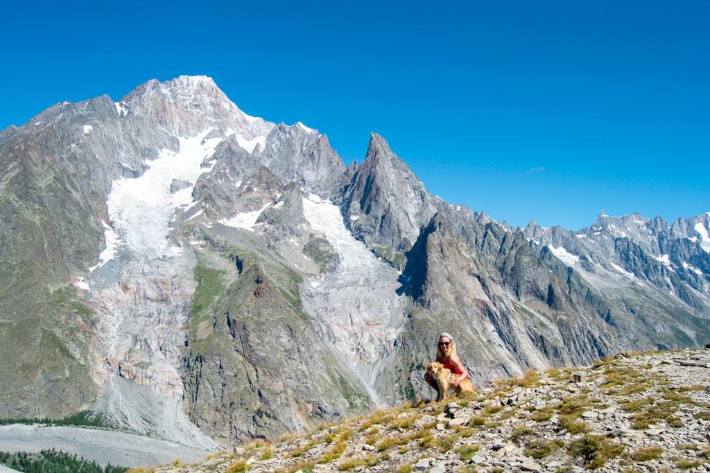 Vista su Monte Bianco e Aguille Noire dal Mont Fortin