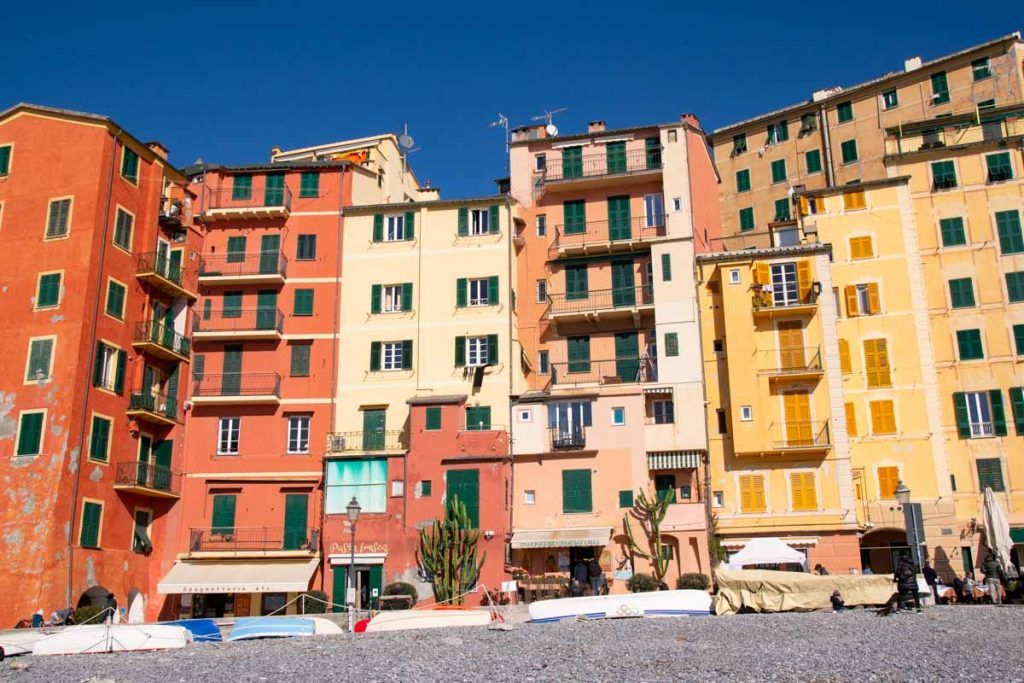 Camogli case colorate - In viaggio con Monica