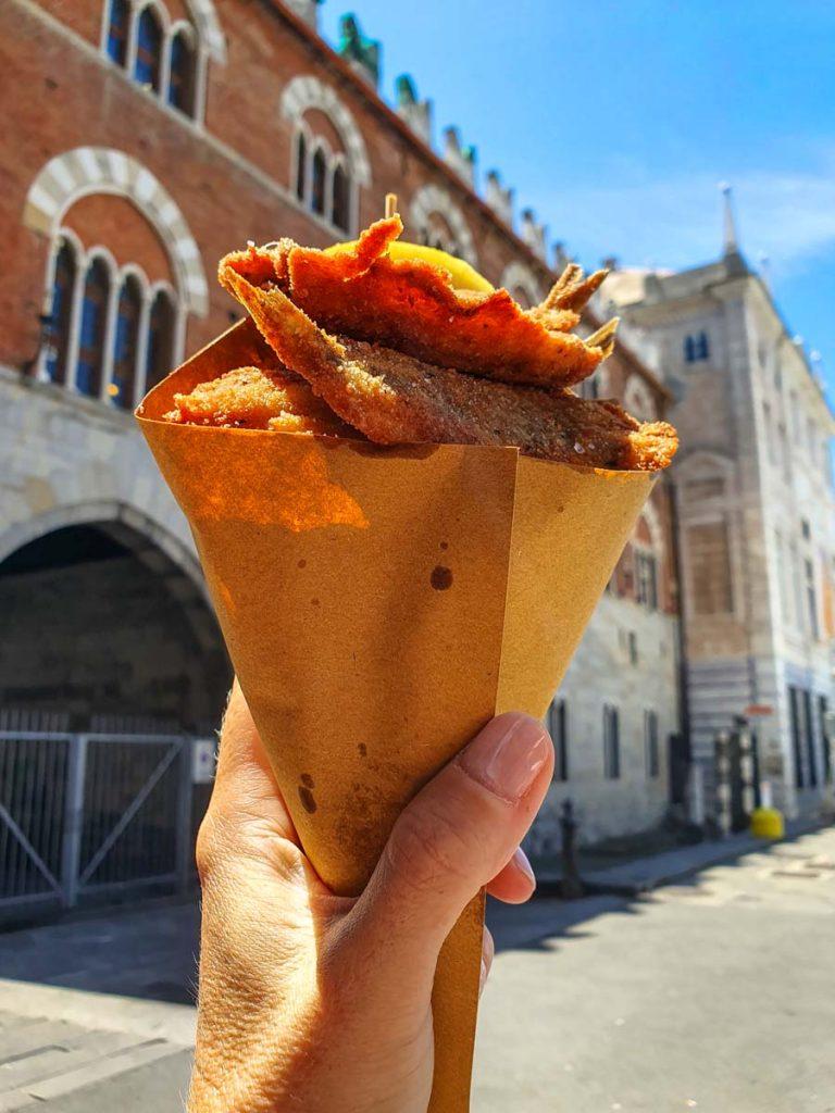 Acciughe fritte Genova
